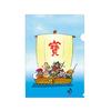 【再販売】クリアファイル/ 宝船・七福神 :まさし画伯
